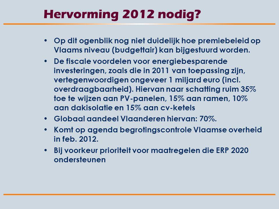 Hervorming 2012 nodig.