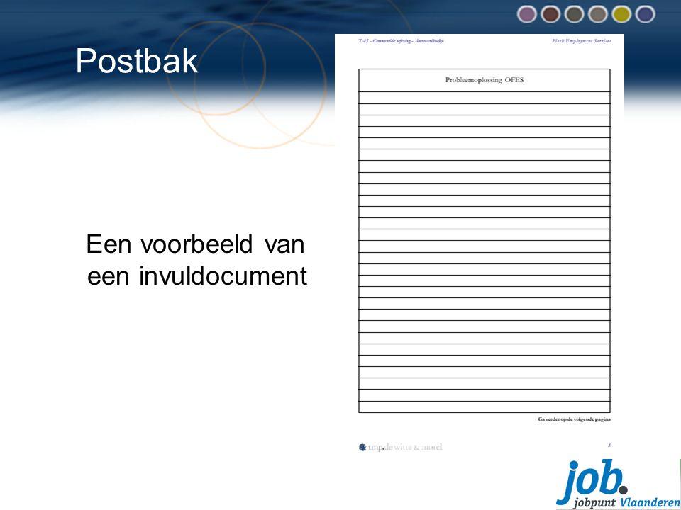 Postbak Een voorbeeld van een invuldocument