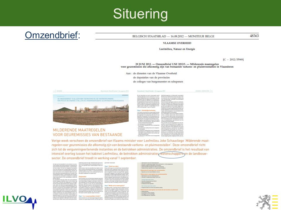 Situering 2 Omzendbrief: