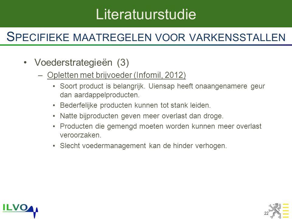 Voederstrategieën (3) –Opletten met brijvoeder (Infomil, 2012) Soort product is belangrijk. Uiensap heeft onaangenamere geur dan aardappelproducten. B