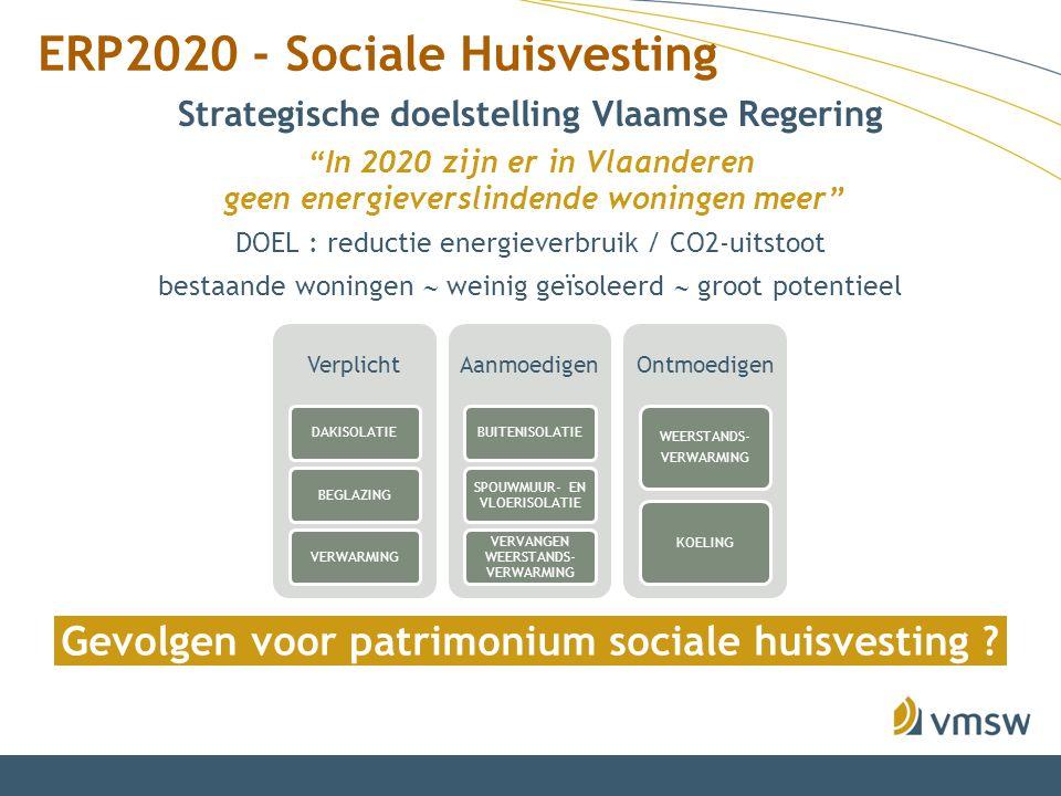 """ERP2020 - Sociale Huisvesting Strategische doelstelling Vlaamse Regering """"In 2020 zijn er in Vlaanderen geen energieverslindende woningen meer"""" Verpli"""