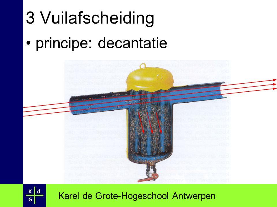 3 Vuilafscheiding principe: decantatie Karel de Grote-Hogeschool Antwerpen