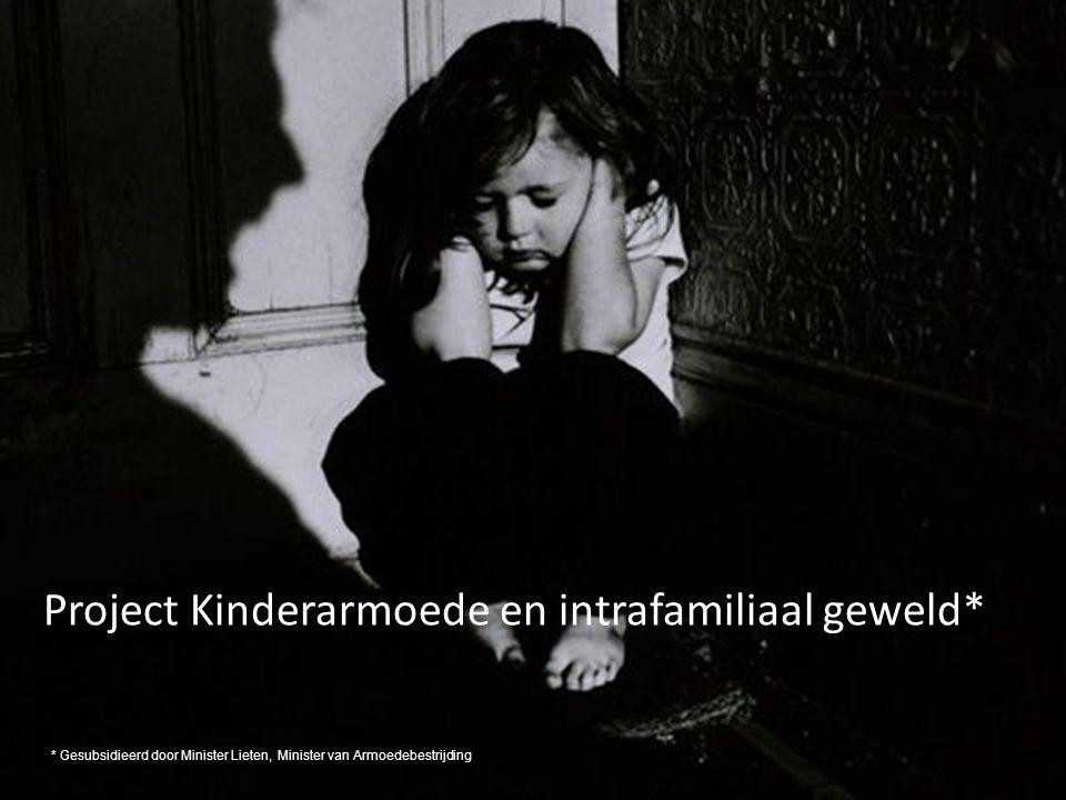 Project Kinderarmoede en intrafamiliaal geweld* * Gesubsidieerd door Minister Lieten, Minister van Armoedebestrijding