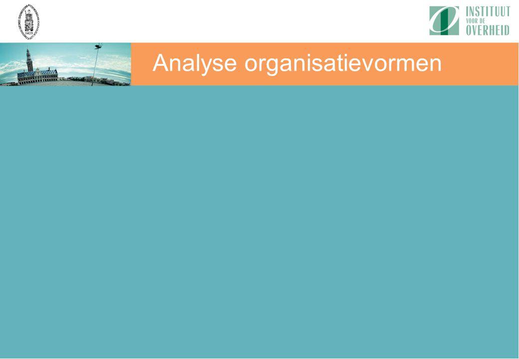 Analyse organisatievormen