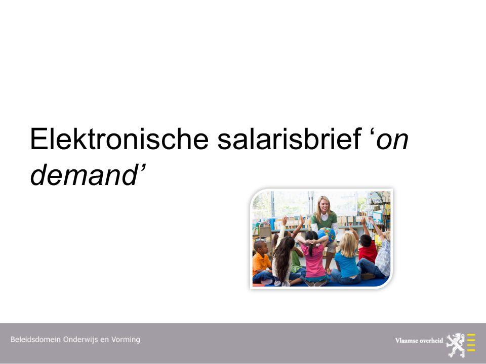 Elektronische salarisbrief 'on demand'