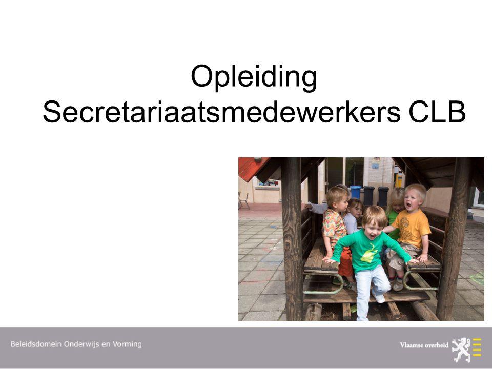 Opleiding Secretariaatsmedewerkers CLB