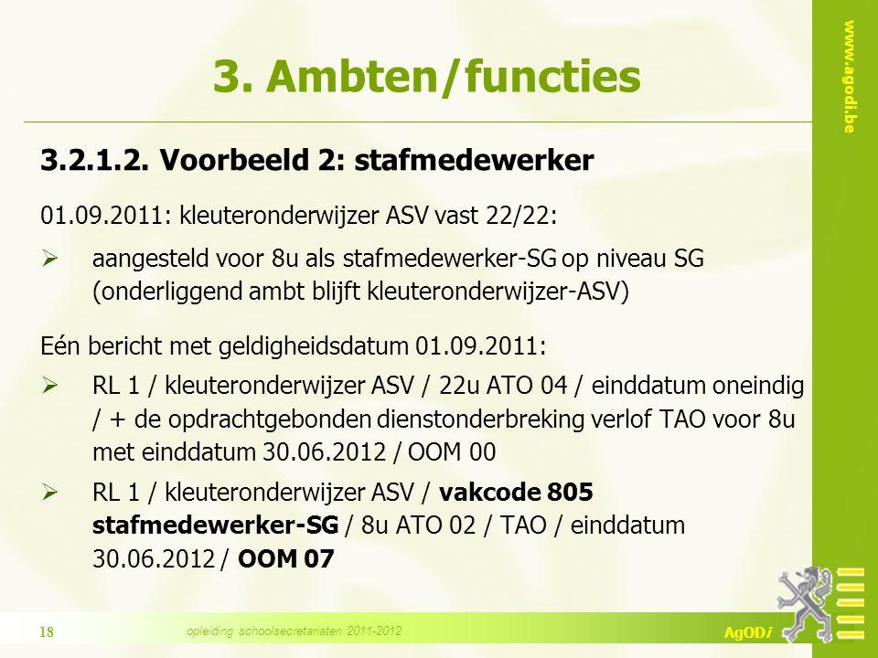 www.agodi.be AgODi 3. Ambten/functies 3.2.1.2.