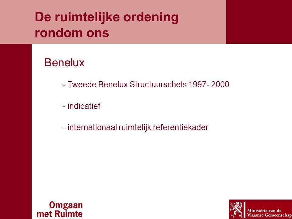De ruimtelijke ordening rondom ons - Tweede Benelux Structuurschets 1997- 2000 - indicatief - internationaal ruimtelijk referentiekader Benelux