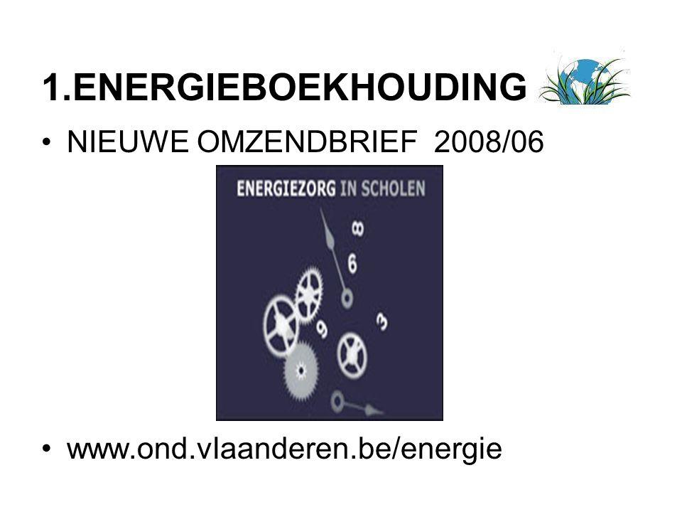 1.ENERGIEBOEKHOUDING NIEUWE OMZENDBRIEF 2008/06 www.ond.vlaanderen.be/energie