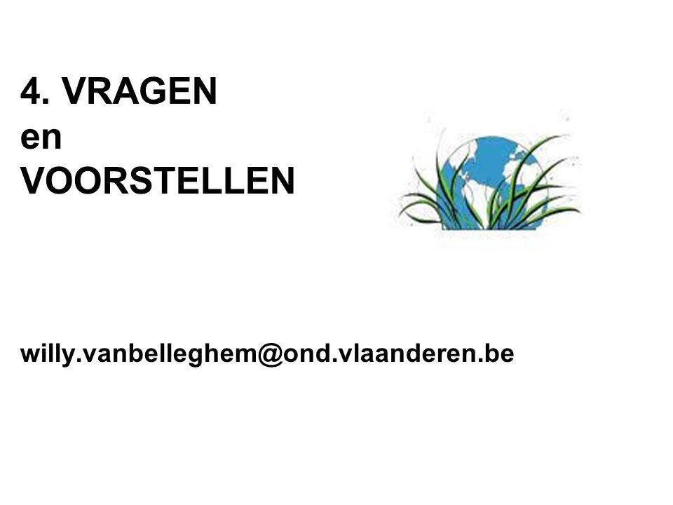 4. VRAGEN en VOORSTELLEN willy.vanbelleghem@ond.vlaanderen.be