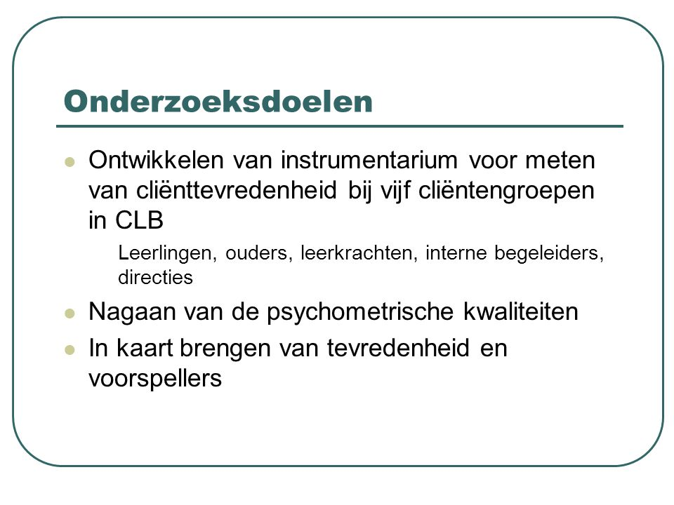 Interne leerlingbegeleiders & zorgcoördinatoren: beschrijvende analyses vaste spreekuren (+ evaluatie) (%)