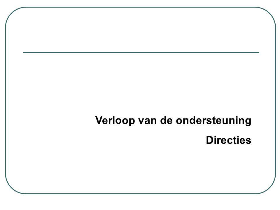 Verloop van de ondersteuning Directies