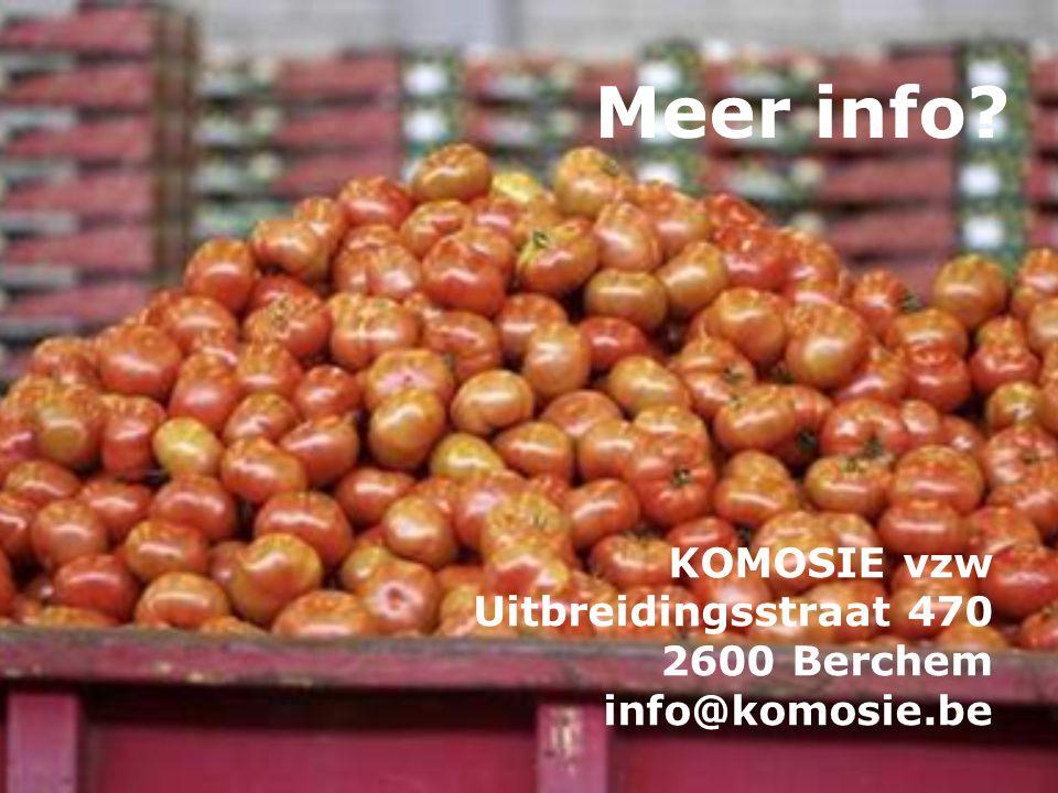 Meer info? KOMOSIE vzw Uitbreidingsstraat 470 2600 Berchem info@komosie.be