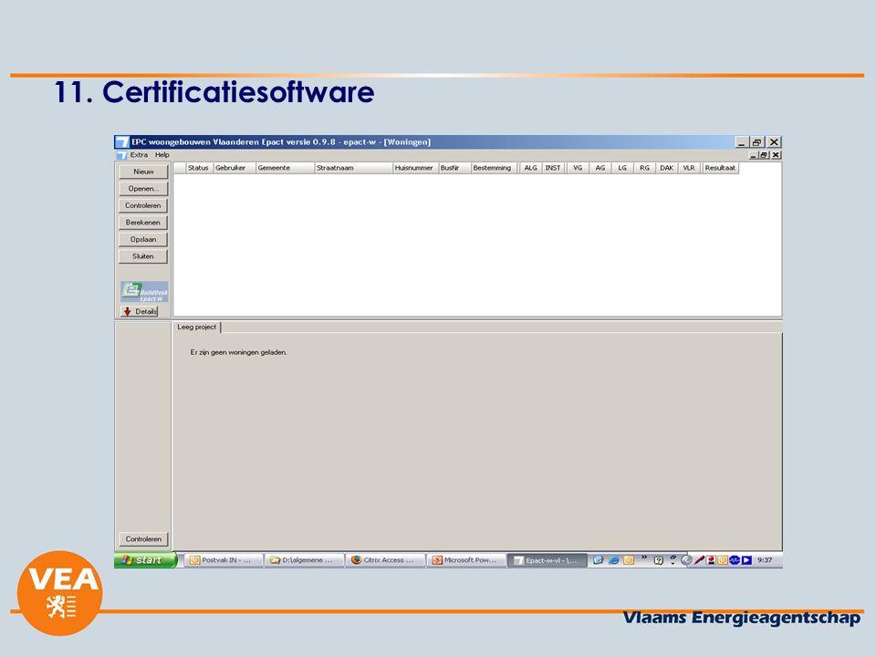 11. Certificatiesoftware