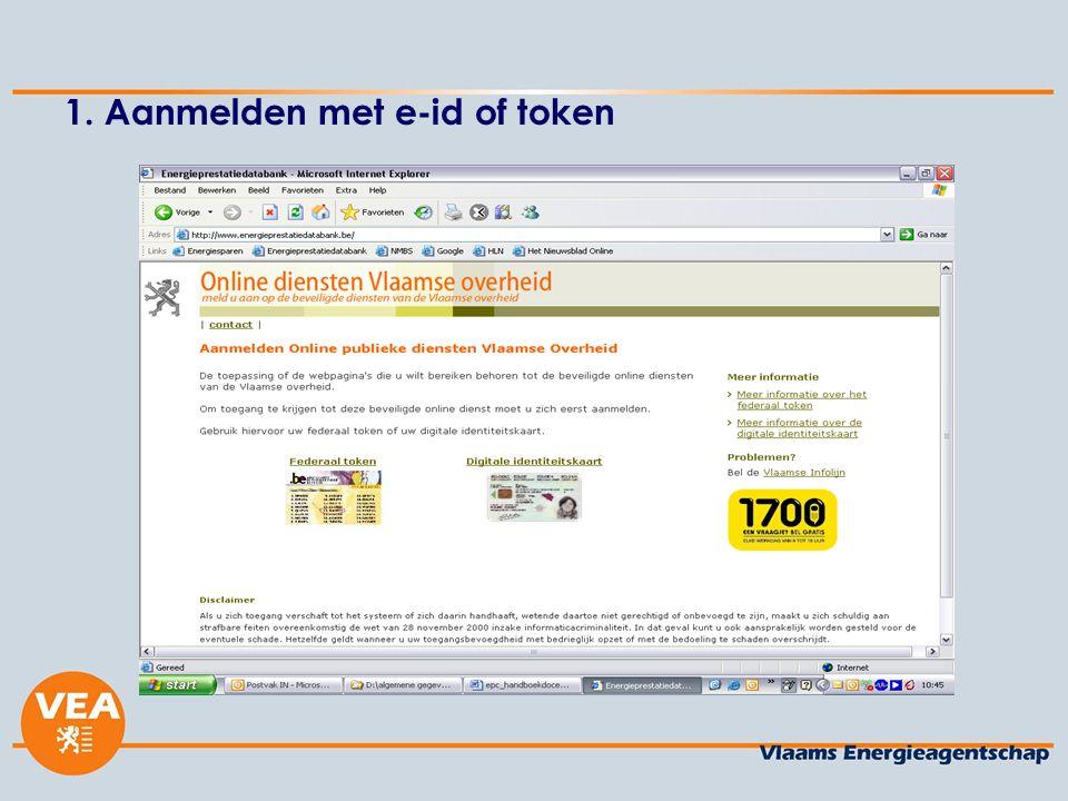 1. Aanmelden met e-id of token