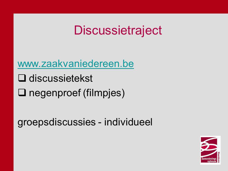 Discussietraject Congres 14 december 2012, Hoboken vm: mind-set - blikopeners nm: themagroepen bediscussiëren ontwerpresoluties ( uit voorafgaande discussiesessies, bevragingen diverse organisaties… )