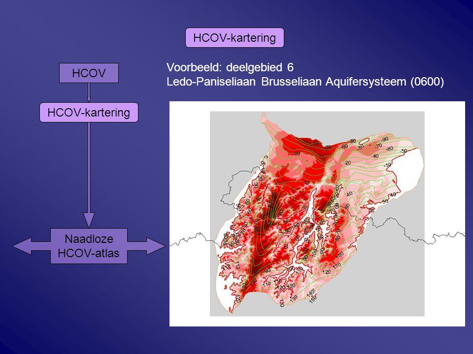 HCOV HCOV-kartering Naadloze HCOV-atlas HCOV-kartering Voorbeeld: deelgebied 6 Ledo-Paniseliaan Brusseliaan Aquifersysteem (0600) HCOV-kartering