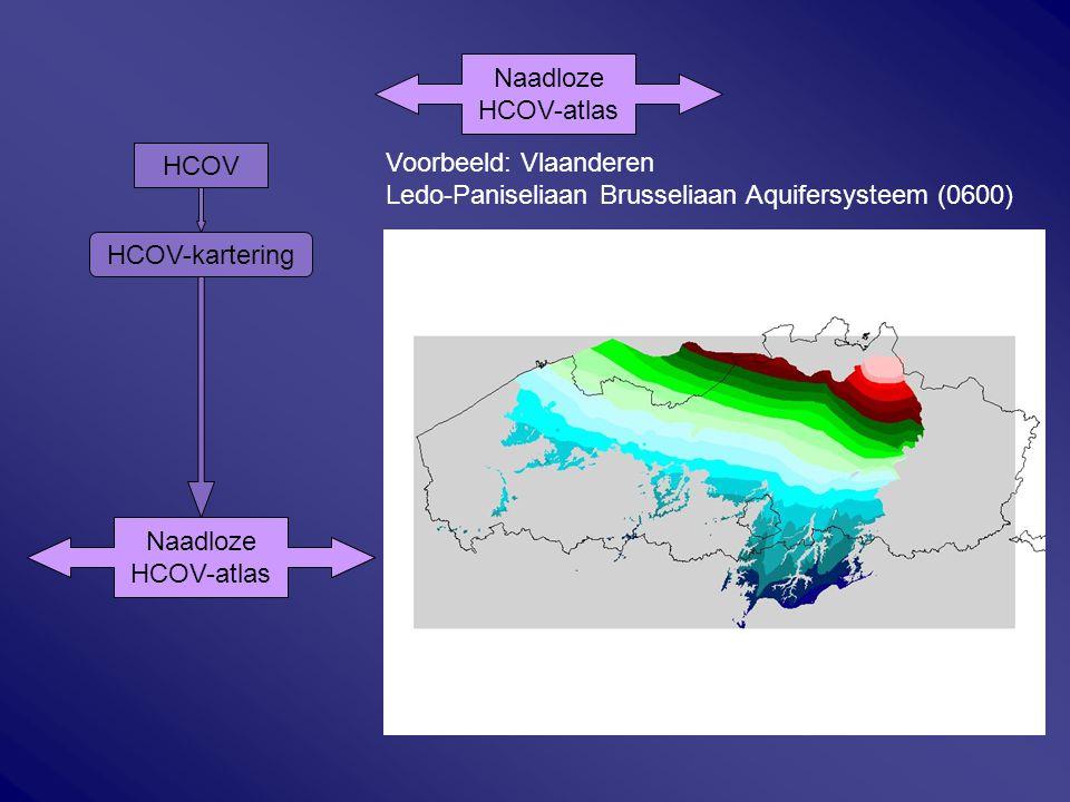 HCOV HCOV-kartering Naadloze HCOV-atlas Naadloze HCOV-atlas Naadloze HCOV-atlas Voorbeeld: Vlaanderen Ledo-Paniseliaan Brusseliaan Aquifersysteem (060