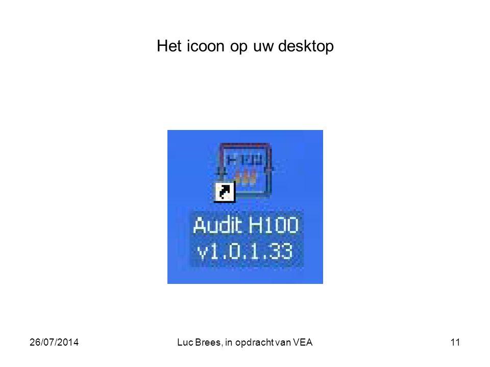 26/07/2014Luc Brees, in opdracht van VEA11 Het icoon op uw desktop
