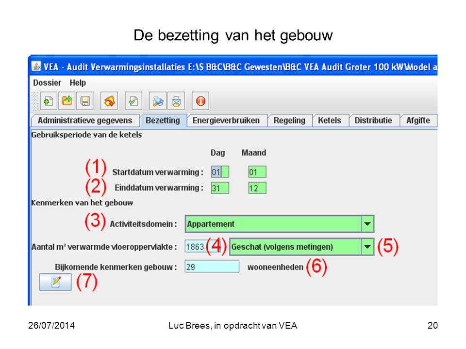 26/07/2014Luc Brees, in opdracht van VEA20 De bezetting van het gebouw