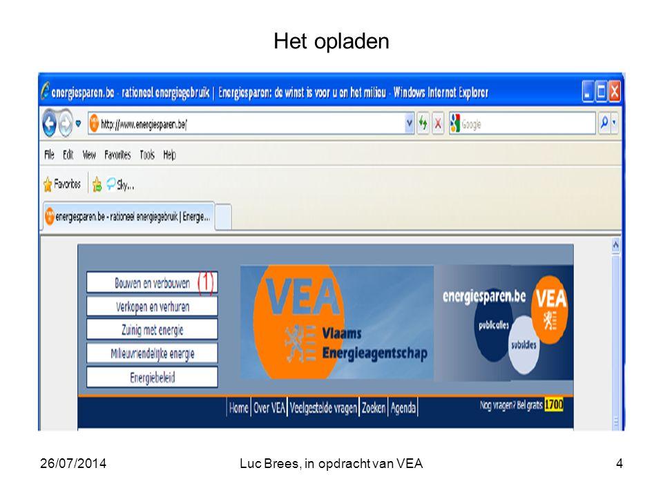 26/07/2014Luc Brees, in opdracht van VEA4 Het opladen