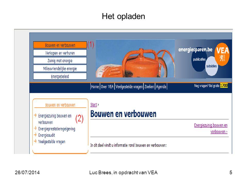 26/07/2014Luc Brees, in opdracht van VEA5 Het opladen