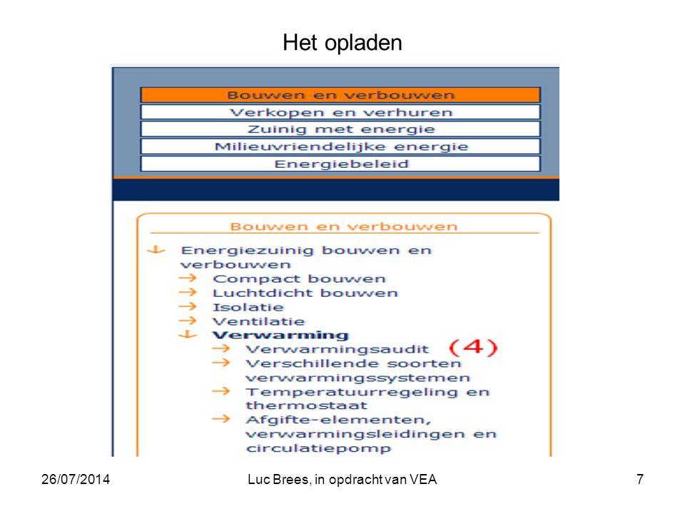 26/07/2014Luc Brees, in opdracht van VEA7 Het opladen