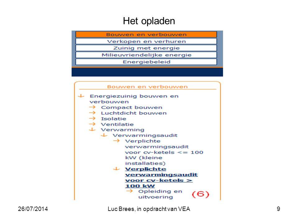 26/07/2014Luc Brees, in opdracht van VEA9 Het opladen