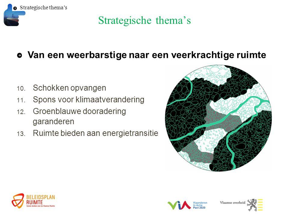 Strategische thema's 10. Schokken opvangen 11. Spons voor klimaatverandering 12.
