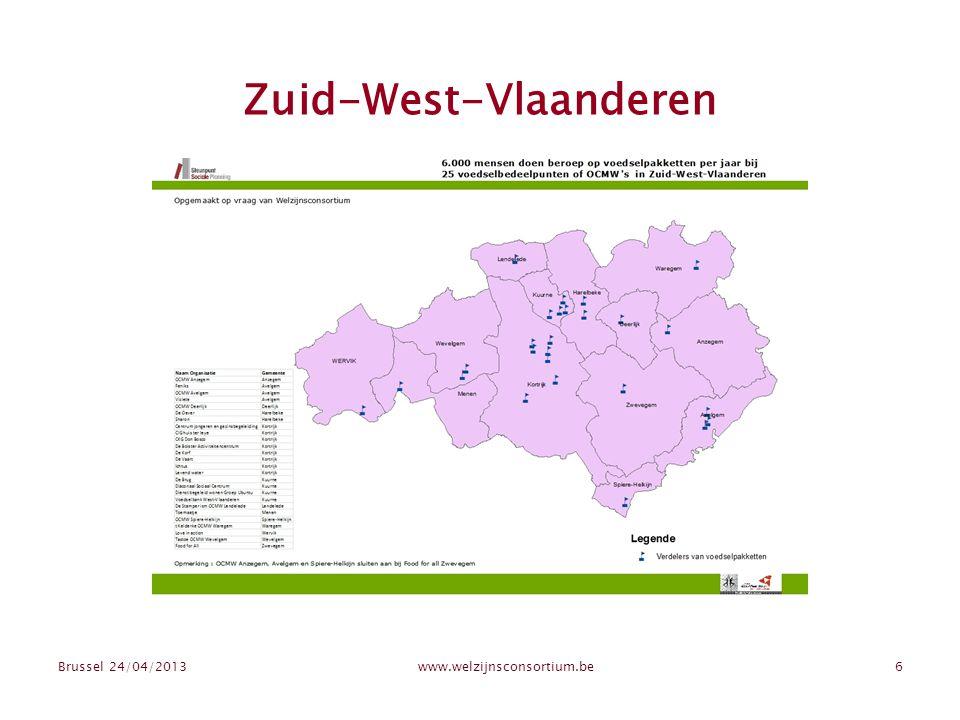 Zuid-West-Vlaanderen Brussel 24/04/2013www.welzijnsconsortium.be6
