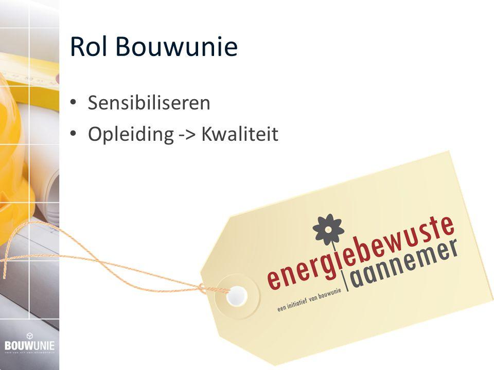 Rol Bouwunie Sensibiliseren Opleiding -> Kwaliteit