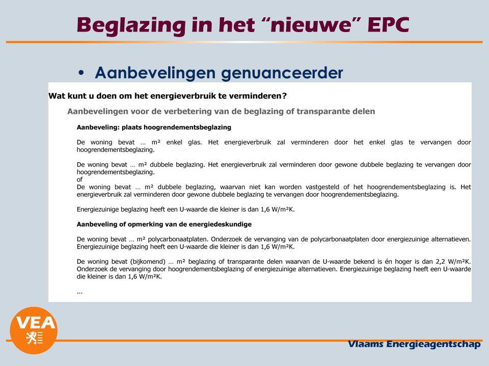 """Beglazing in het """"nieuwe"""" EPC Aanbevelingen genuanceerder"""