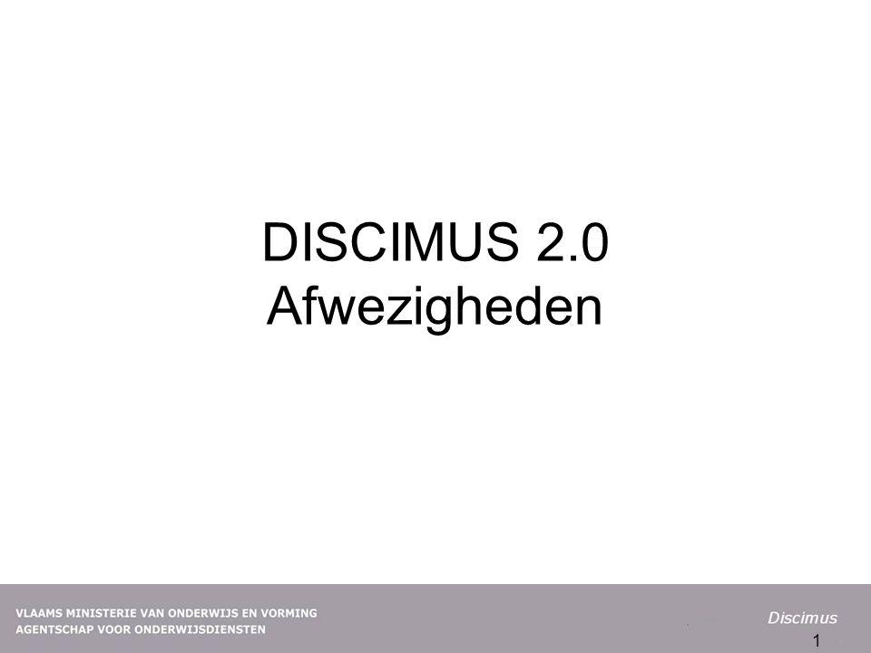 DISCIMUS 2.0 Afwezigheden 1