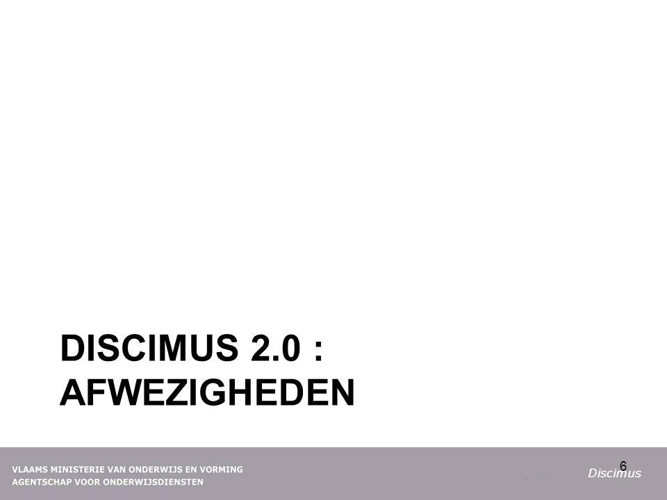 DISCIMUS 2.0 : AFWEZIGHEDEN 6