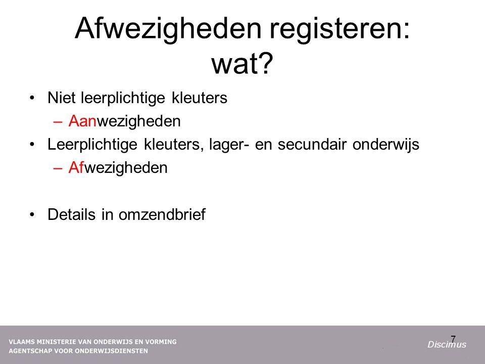 Afwezigheden registeren: wat.