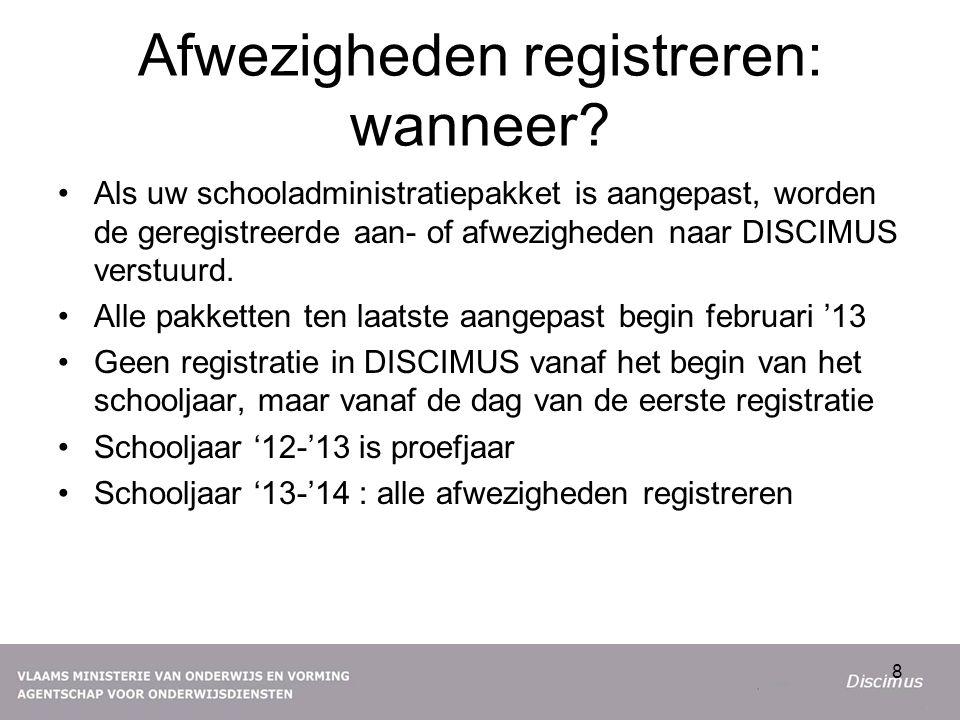 Afwezigheden registreren: wanneer.