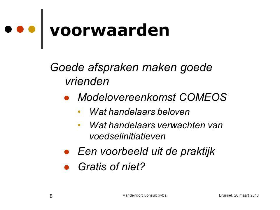 Brussel, 26 maart 2013Vandevoort Consult bvba 9 mogelijkheden Een nieuwe niche in de sociale economie.