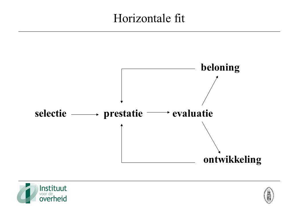 Horizontale fit beloning selectieprestatieevaluatie ontwikkeling