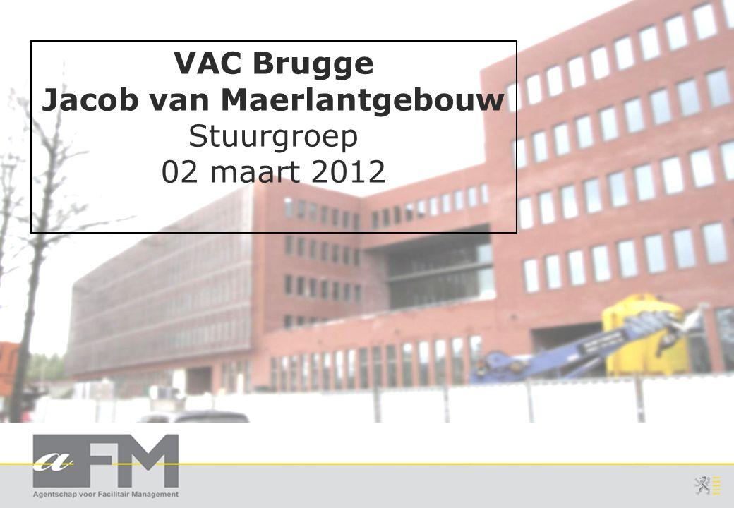 Page 2 Slide 2 VAC-Brugge Stuurgroep:  Agenda: Anders Werken – check-up (Gerda Serbruyns) Bijkomende Afspraken Bouw en IWH – Status Dossiers Fase 2: status en planning Officiële opening VAC Brugge op 16-apr-2012_VM Varia