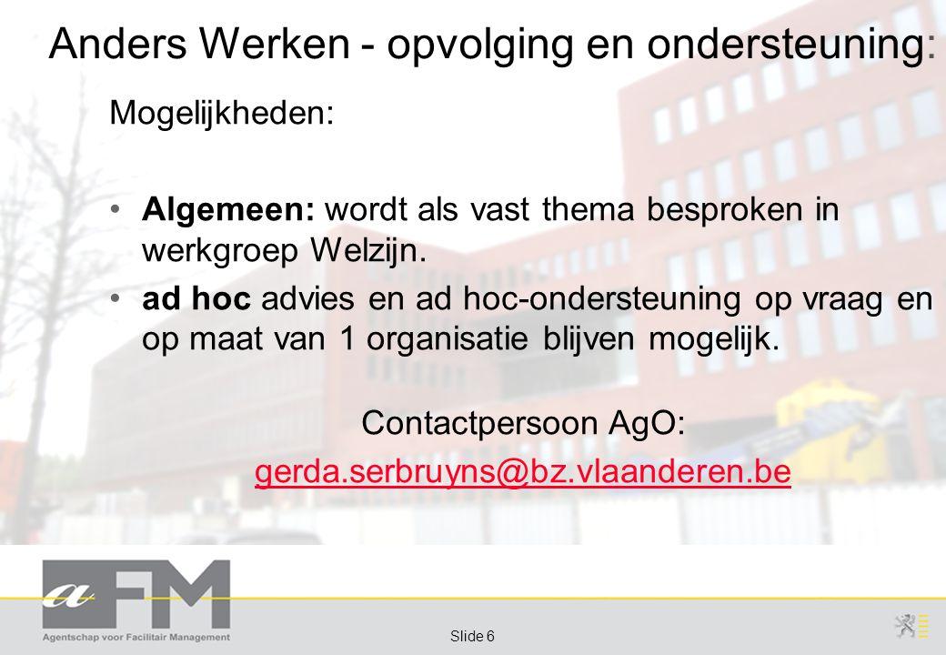 Page 7 Slide 7 Bijkomende Afspraken (1/2):  Verlichting  Wat: alle ndz.