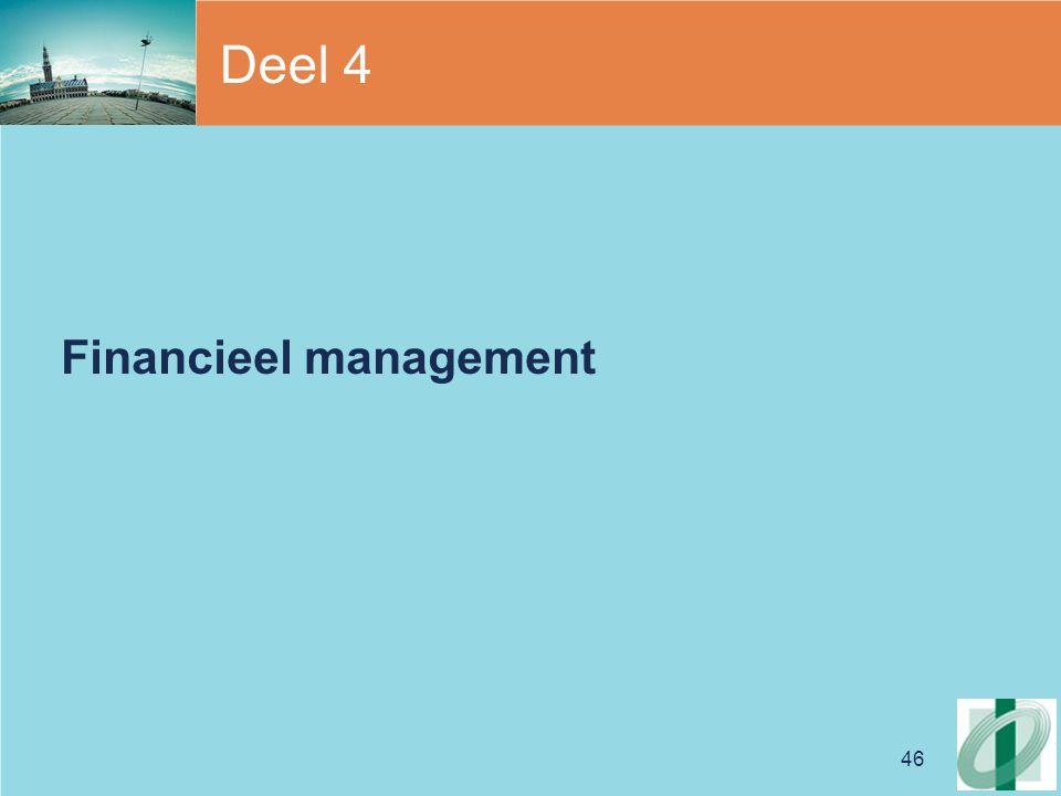 46 Deel 4 Financieel management