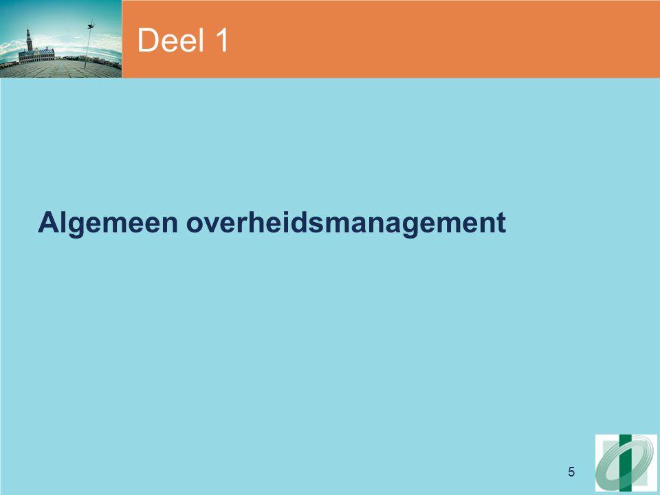 5 Deel 1 Algemeen overheidsmanagement