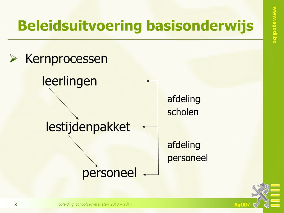 www.agodi.be AgODi 9 Scholen BaO, DKO en CLB  Dienstverlening t.a.v.