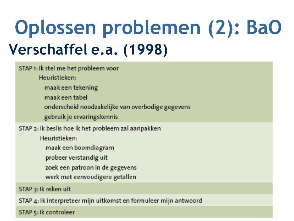 Oplossen problemen (2): BaO Verschaffel e.a. (1998)