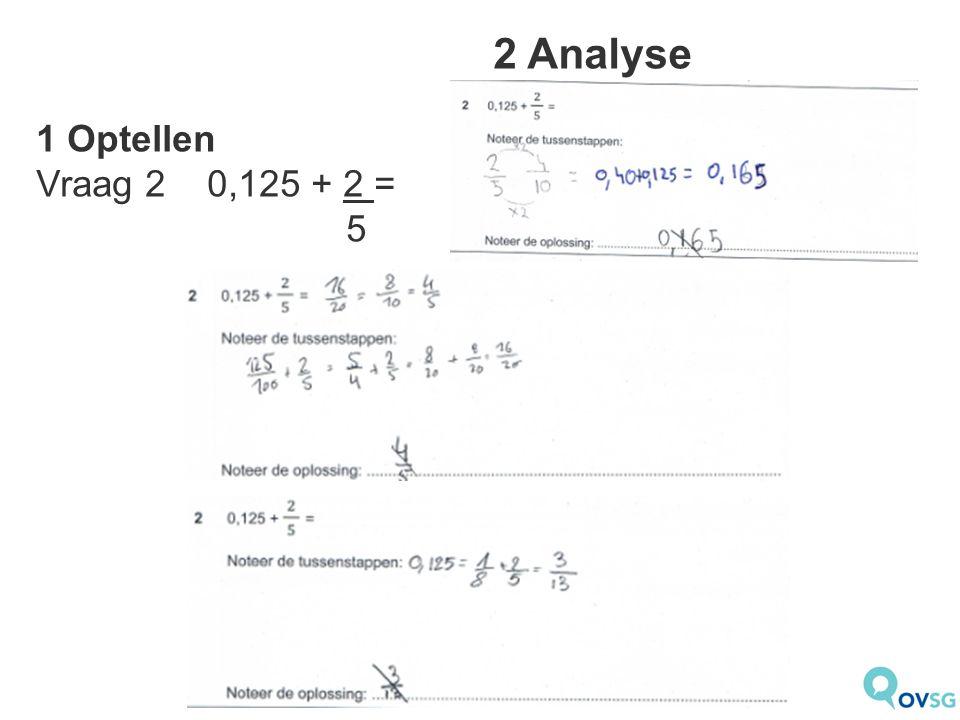 2 Analyse 2 Aftrekken Vraag 4 1 000 000 – 100 100 =  Bijna 44% maakt een fout  Moeilijke oefening.
