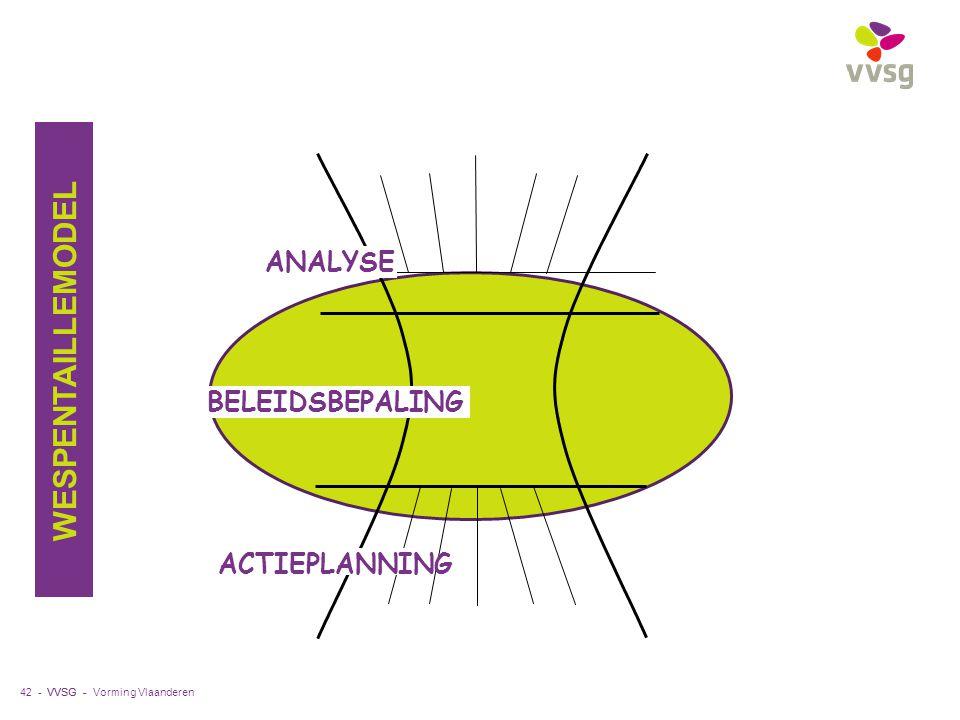 VVSG - 42 - ANALYSE ACTIEPLANNING BELEIDSBEPALING WESPENTAILLEMODEL Vorming Vlaanderen