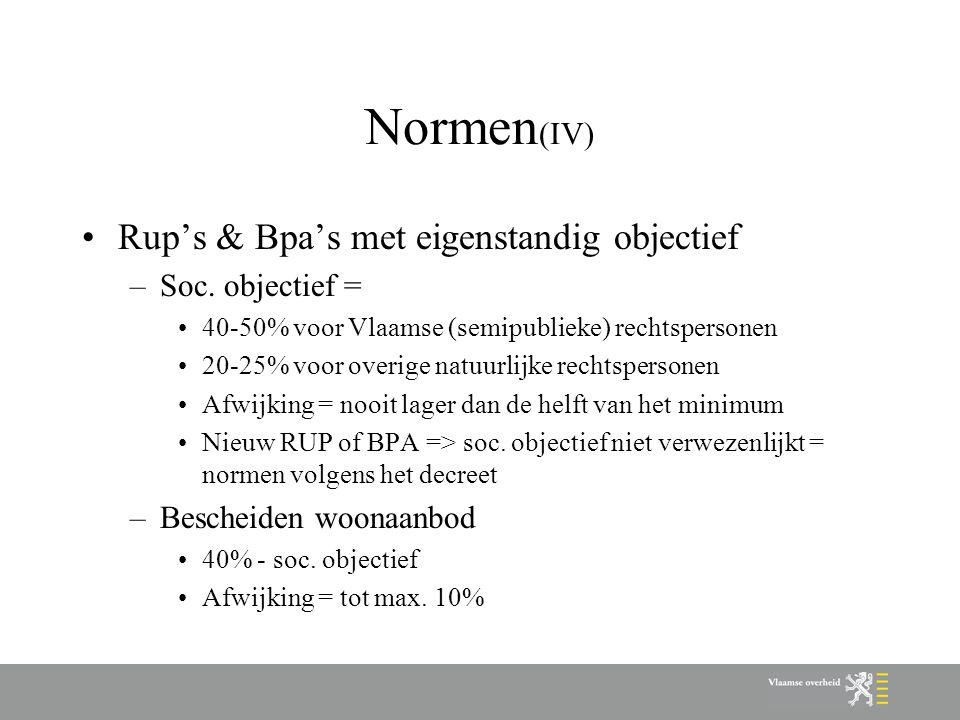 Normen (IV) Rup's & Bpa's met eigenstandig objectief –Soc.