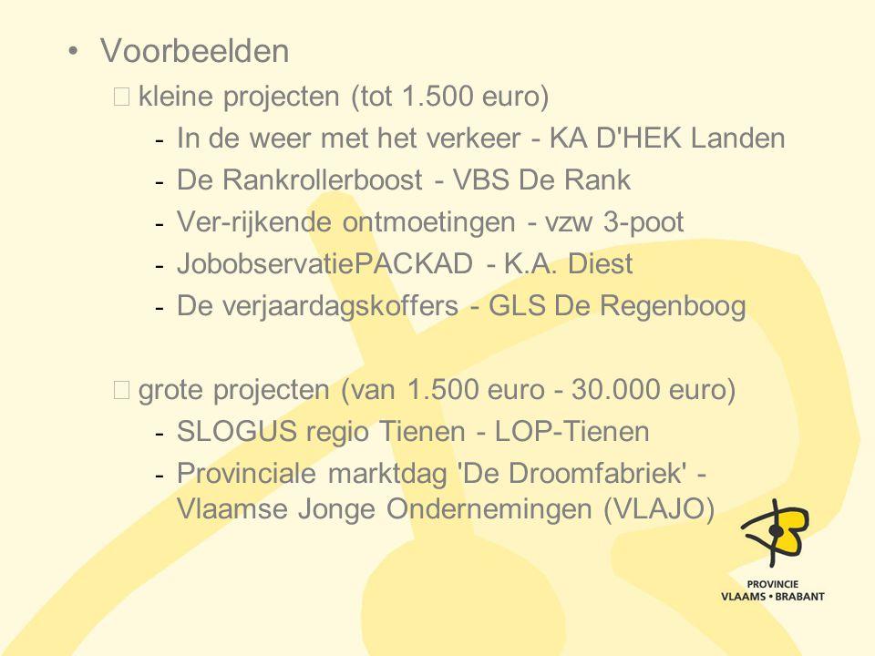 Voorbeelden kleine projecten (tot 1.500 euro) - In de weer met het verkeer - KA D'HEK Landen - De Rankrollerboost - VBS De Rank - Ver-rijkende ontmoet