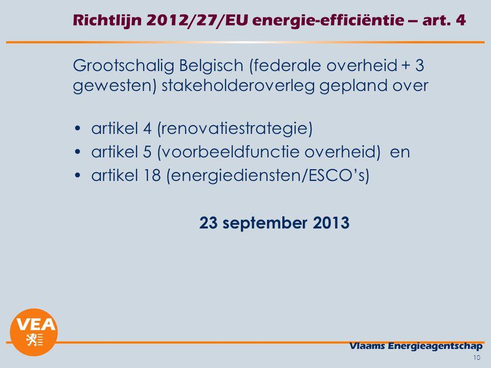 10 Richtlijn 2012/27/EU energie-efficiëntie – art.