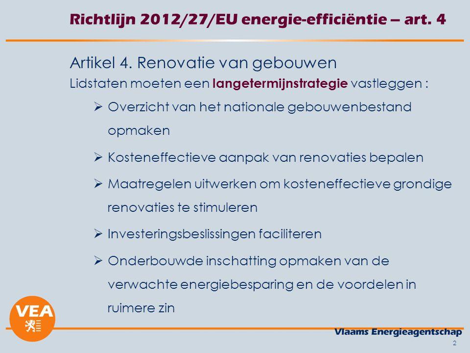 2 Richtlijn 2012/27/EU energie-efficiëntie – art. 4 Artikel 4.